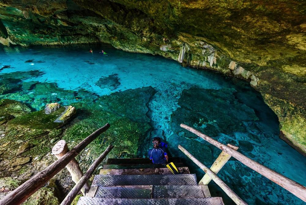 Parte más profunda de Cenote Dos Ojos